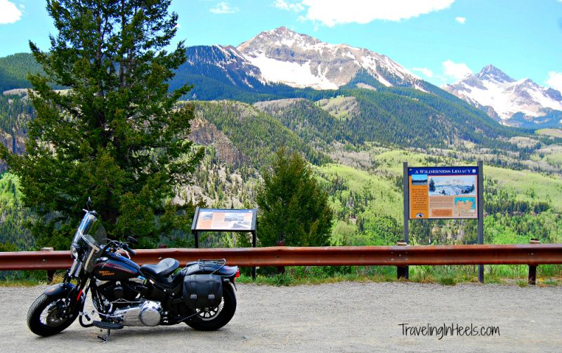 Plenty of motorcycle road tripping to be had near Telluride, Colorado, including a scenic stop with a history lesson on the Ophir Loop.