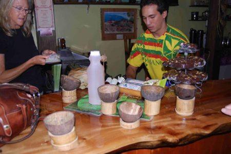 Serving kava downtown Hilo's Bayfront Kava