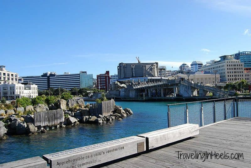 So much to do and see on your travels to New Zealand, includng the Wellington Harbour.