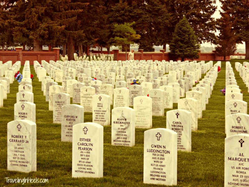 Honoring fallen soldiers #MemorialDay at Fort McPherson Cemetery, near North Platte Nebraska on I-80, Exit 190.