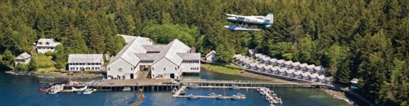 Free airfare to Waterfall Resort in Alaska, another great Black Friday Cyber Monday travel deal