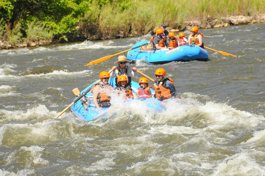 Try whitewater rafting with Echo Canyon River Expeditions, available for kids as young as 4.