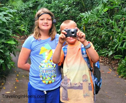 Grandkids experiencing Walt Disney World with a lot of Panasonic Adventure camera and video love.