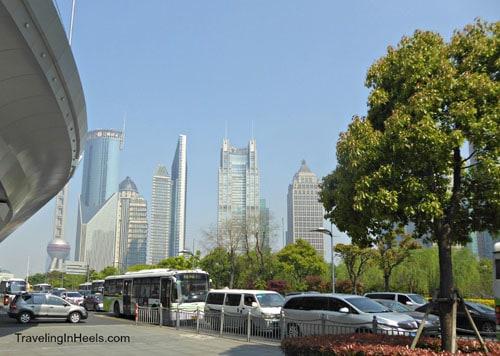 traffic in Shanghai China