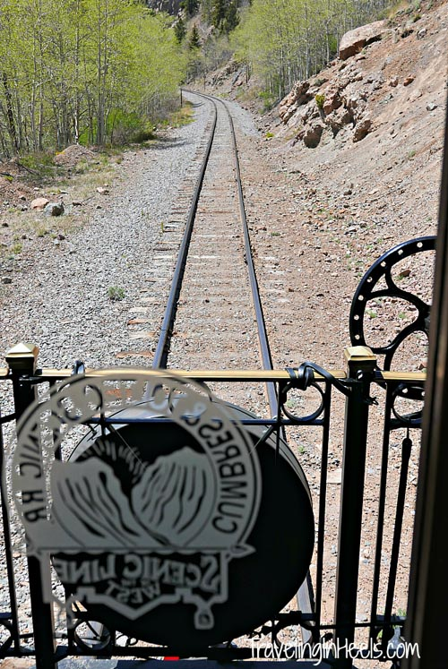 View from the Parlor Car of the Cumbres-Toltec Scenic Railroad.