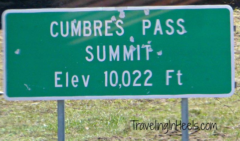 Cumbres Pass Summit elevation 10,022, aboard the Cumbres & Toltec Scenic Railroad