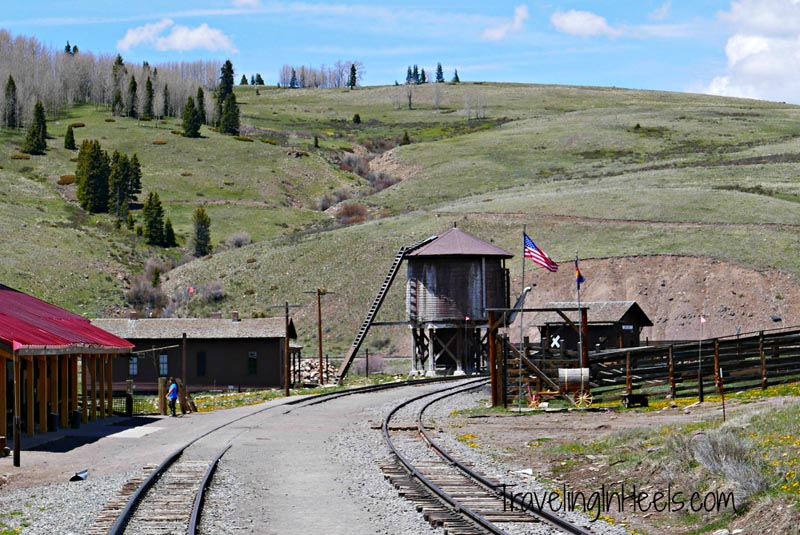 Lunch stop for Cumbres Toltec passengers at Historic Osier, Colorado,