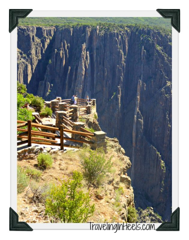 The observation deck of the Black Canyon of the Gunnison National Park in Colorado.