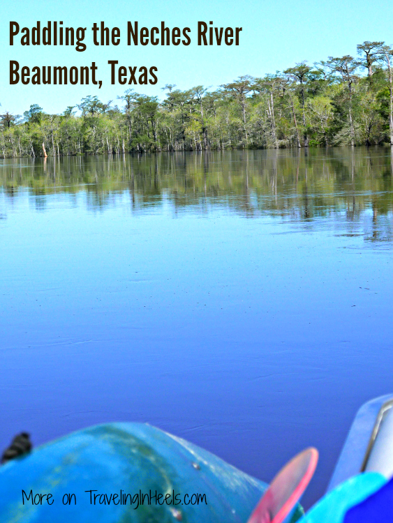 Paddling the Neches River in Beaumont, Texas