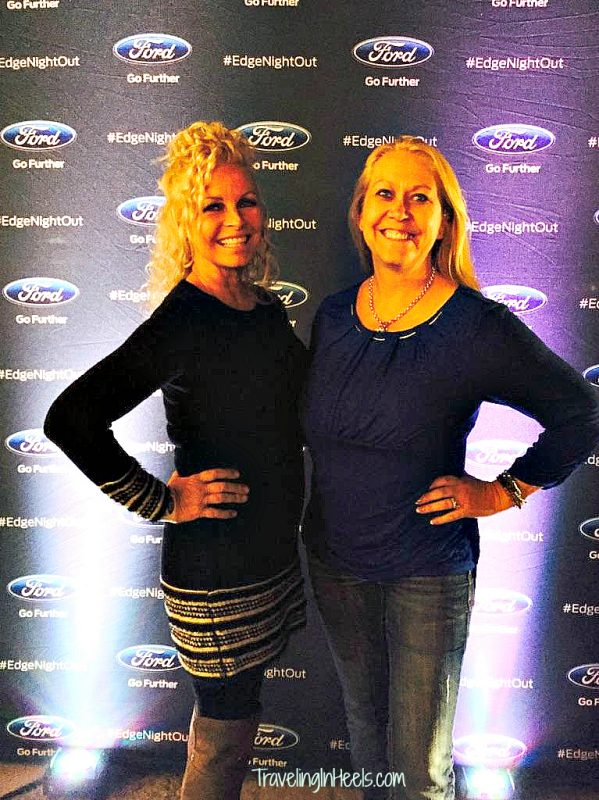My BFF and I were all about the red carpet sign for the 2015 Ford Edge Night out
