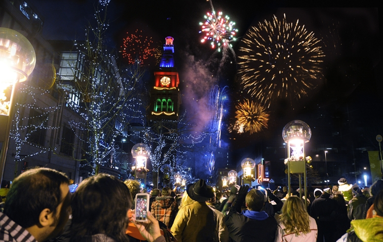 Mile High Holidays include Ring in the New Year at downtown Denver with a free fireworks on New Years Eve. Photo courtesy of VISIT DENVER