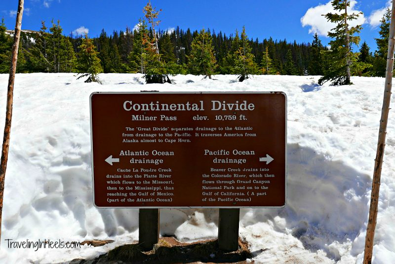 Snow even in June at the Continental Divide Near Milner in the Rocky Mountain National Park