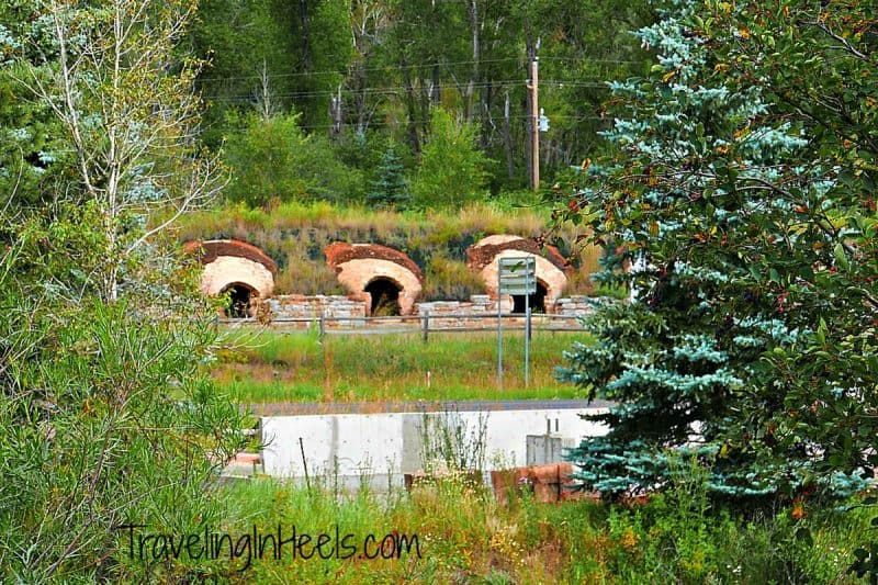 """Redstone's """"beehive"""" coke ovens, located at the main entrance to the town on Highway 82."""