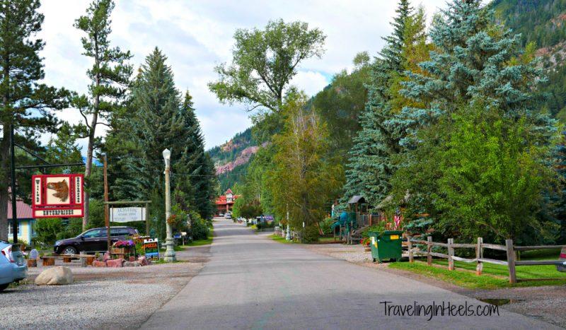 A quiet Main Street in Redstone, Colorado