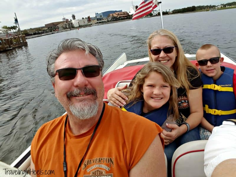 On land and on water, riding the vintage Amphicar at The Boathouse in Disney Springs