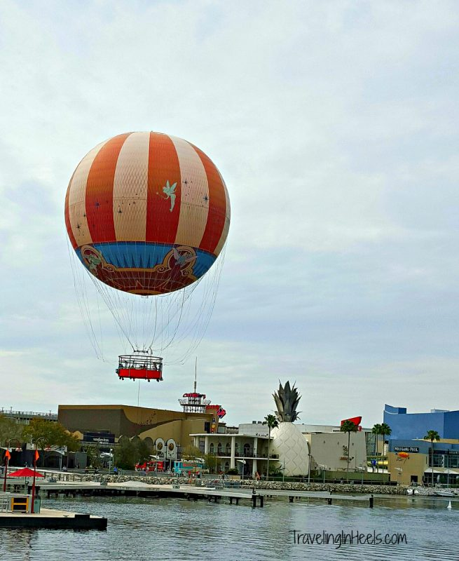 Up up and away, Characters in Flight balloon ride in Disney Springs