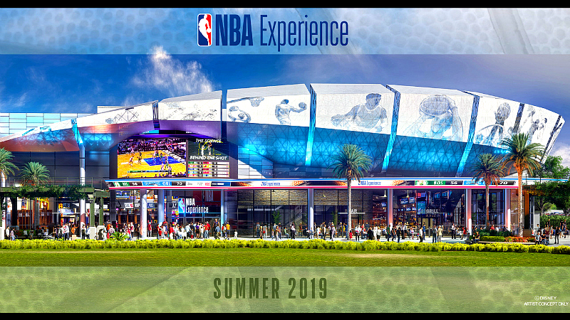 NBA experience is coming to Disney Springs, Summer of 2019.