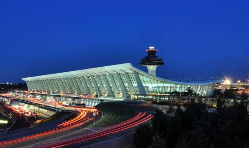Washington Dulles International Airport Photo Credit: Joe Ravi via Wikipedia license CC-BY-SA 3.0
