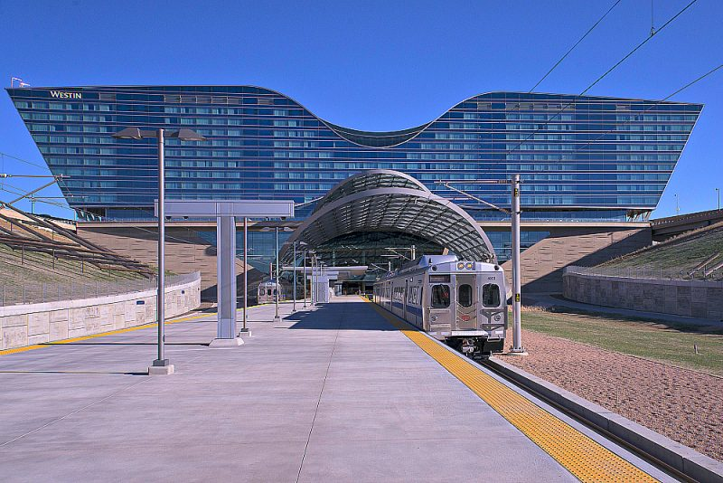 Light Rail Connects Denver International Airport to Downtown Photo credit: Denver Regional Transportation District