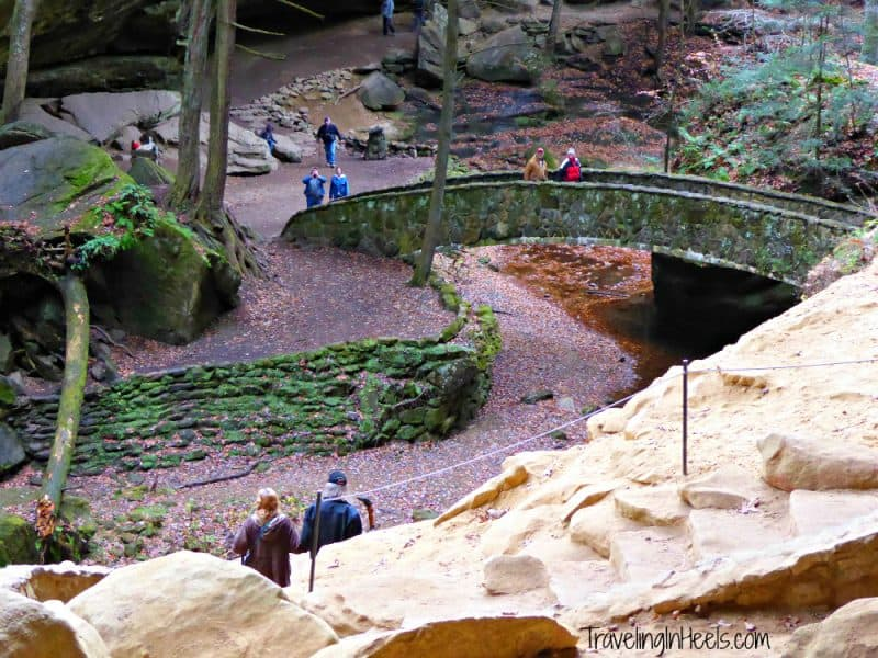 The most popular of all the Hocking areas is Old Man's Cave, located on State Route 664 in Hocking Hills State Park.