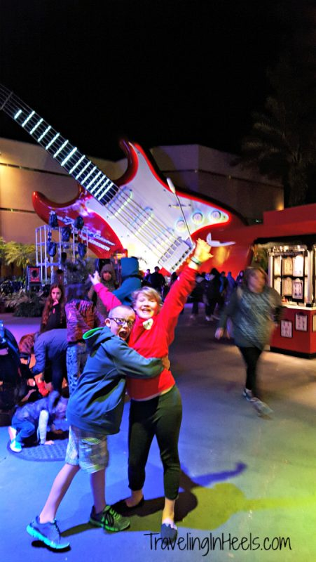 Night is the best time to ride Disney's Rock 'n' Roller Coaster at Disney's Hollywood Studios Rock n Roller Coaster