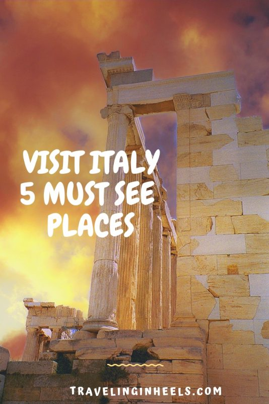 From romantic Rome to the waterways of Venice, these are the 5 must-see places to visit in Italy. #Italy #visitItaly