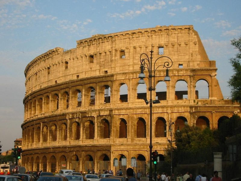 1 of 5 not to miss places in Italy is the Colosseum or Coliseum, also known as the Flavian Amphitheatre, located in the centre of the city of Rome, Italy. Built of concrete and sand, it is the largest amphitheatre ever built.