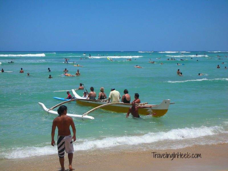 Take your mom on a water adventure in Hawaii, from snorkeling to riding an outrigger canoe. TravelingInHeels.com