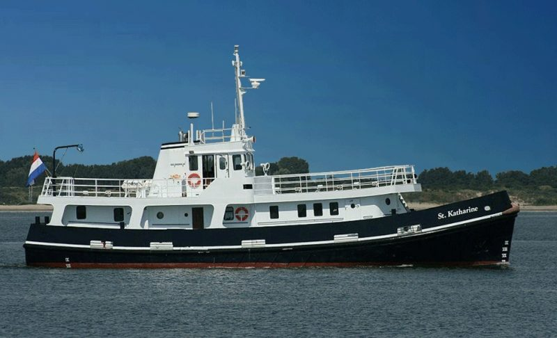 A B&B boat? Why yes you can! The St Katharine is a historic former Fleet Tender of Royal Navy.