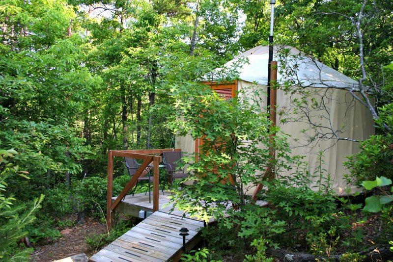 Glamping B&B Yurt style at Cedar House Inn & Yurts, Dahlonega, Georgia