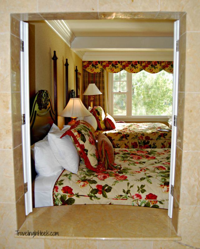 Classy and elegant, but roomy accommodations at The family friendly Broadmoor hotel in Colorado Springs, Colorado