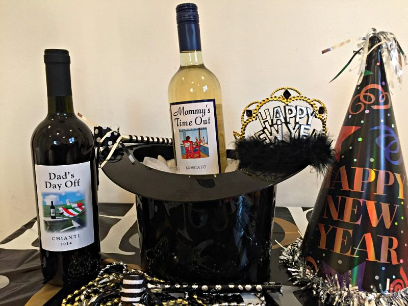 New Years Eve Ideas: Put the wee ones to bed, and enjoy Mommys Time Out Wine on New Years Eve.