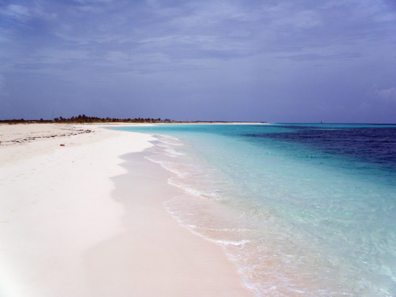 Not to miss the white-sugar beaches of Cuba.