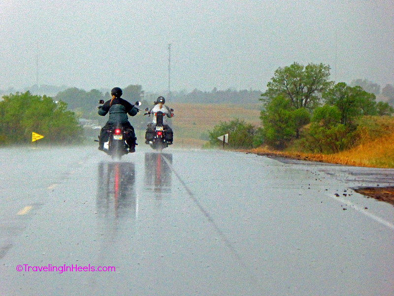 Tips for motorcycle road trips include: Be Prepared! Weather changes quickly on the road.