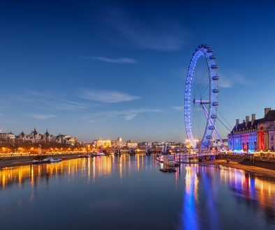 Perhaps the best views of the city: the London Eye observation wheel.