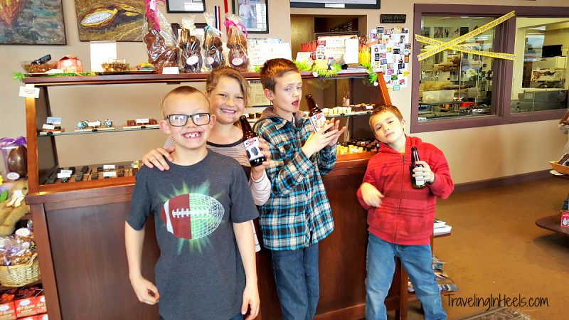 When in Medford, Oregon, for an unplanned spring break travel, a must-do chocolate stop is Lillie Belle Farms.