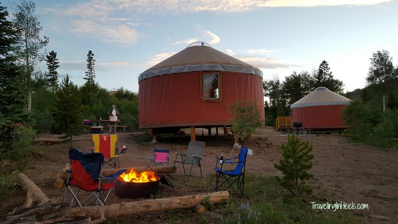 Colorado glamping experience awaits you with a stay in the yurts at YMCA Snow Mountain Ranch.