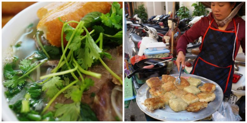 Where locals eat in Hanoi, Vietnam includes Pho and Square Cake at Bánh Chưng.