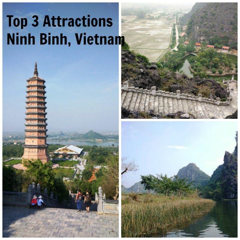 Top 3 attractions in Ninh Binh, Vietnam.