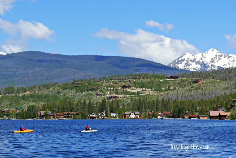 Rent kayaks on Grand Lake during your family friendly road trip to Rocky Mountain National Park.