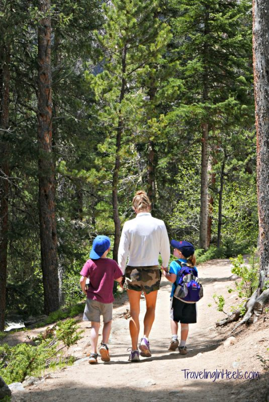 Include a hike at Adams Falls in Grand Lake during your family friendly road trip to Rocky Mountain National Park