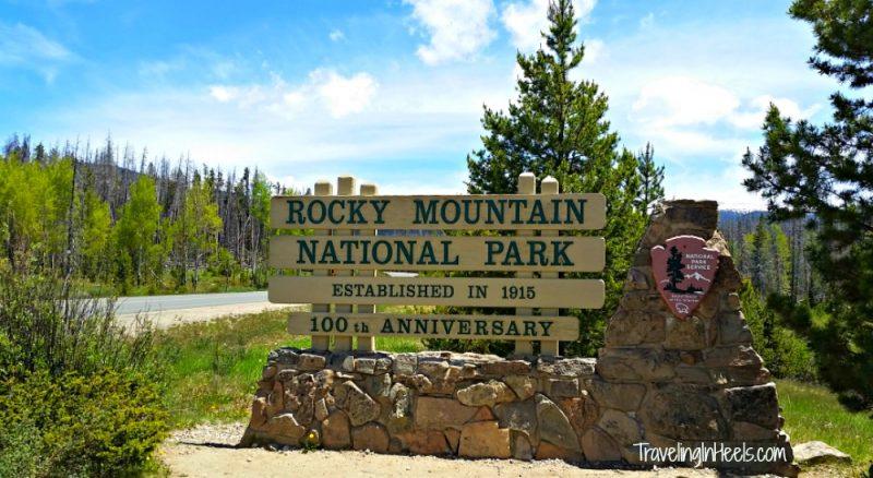 Eastern Grand Lake entrance to Rocky Mountain National Park, when celebrating its 100th anniversary.