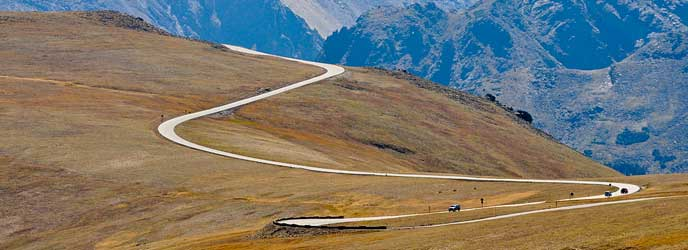 Driving Trail Ridge Road where it opens to the windswept alpine world, conditions resemble those found in the Canadian or Alaskan Arctic