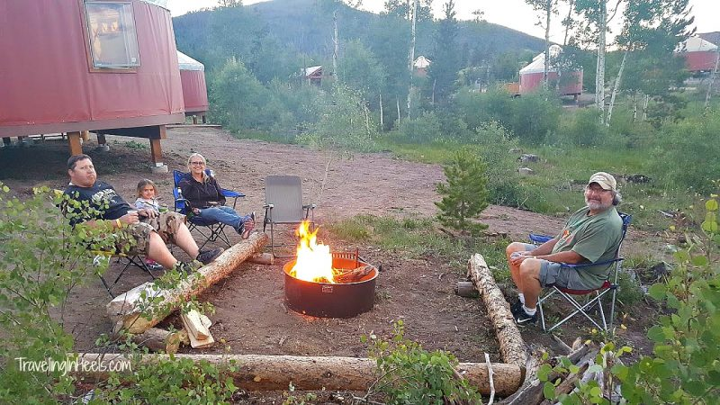 Not into camping? How about Colorado Glamping in yurts at YMCA Snow Mountain Ranch as your next family travel