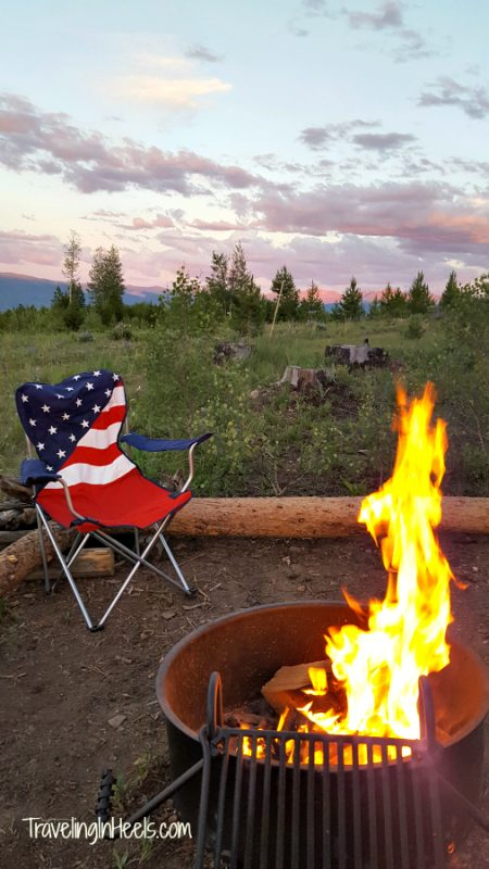 The best part of glamping at YMCA Snow Mountain Yurts is the ready-to-go firepits.