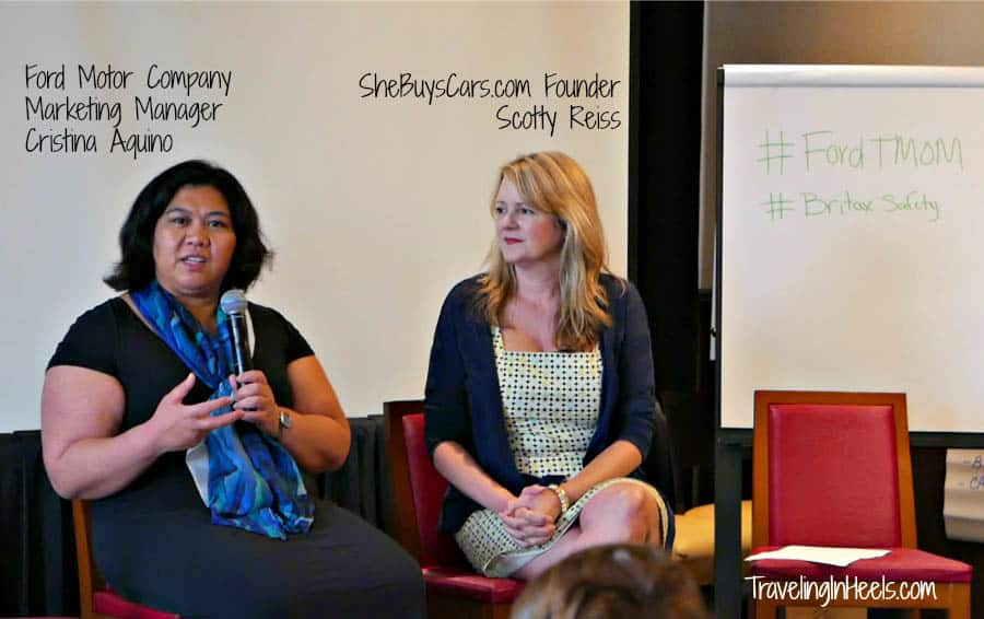 Talking motor trends: Ford brand manager Cristina Aquino and SheBuysCars.com founder Scotty Reiss