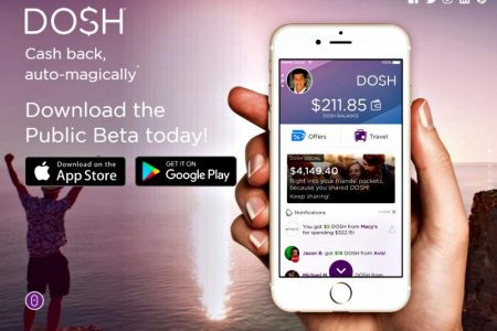 Get cash back by downloading the Dosh App