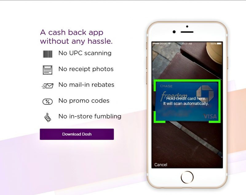 No hassle cash back with the Dosh App