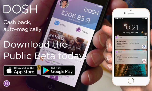 Download the Dosh app for cash back on restaurants and travel.