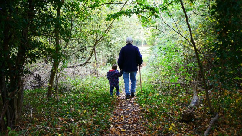 Spend time with Grandpa and Grandma! Take a hike on Grandparents Day.